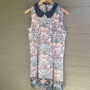 LC Lauren Conrad floral babydoll collar dress